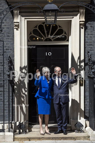 Theresa May leaving 10 Downing Street for her last PMQ time before resigning, Westminster, London - Jess Hurd - 2019-07-24