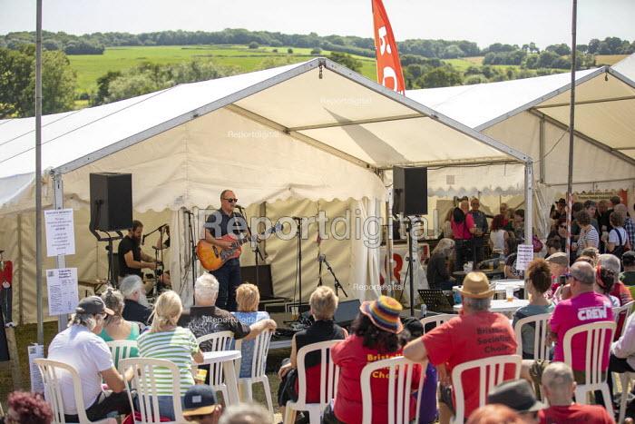 Paul Nowak, TUC performing Tolpuddle Martyrs Festival, Dorset. - Jess Hurd - 2019-07-21