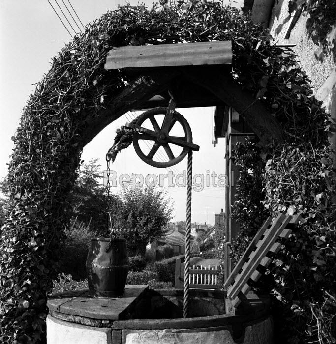 Well in front of cottage Coddenham Suffolk 1955 - Kurt Hutton - 1955-09-27