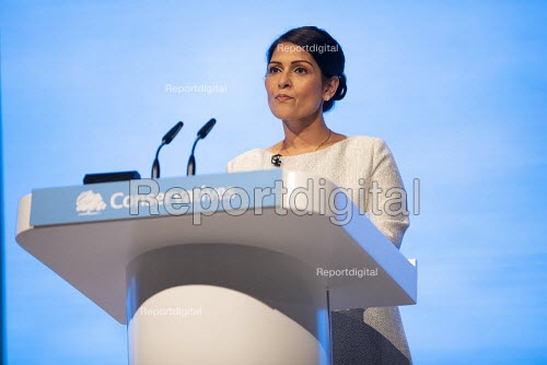 Priti Patel speaking Conservative Party Conference, Manchester, 2019 - Jess Hurd - 2019-10-01