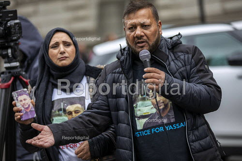 Justice for Mohammed Yassar Yaqub, parents joins Annual United Families and Friends Campaign march against deaths in police custody, Whitehall, Westminster, London. - Jess Hurd - 2019-10-26