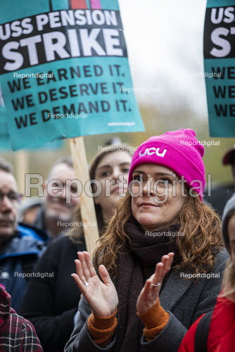 Queen Mary University of London UCU USS Pension strike picket line, Tower Hamlets, East London. - Jess Hurd - 2019-11-27