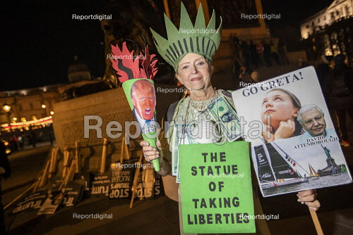 Statue of Taking Liberties, No to Trump, No to NATO Protest London - Jess Hurd - 2019-12-03