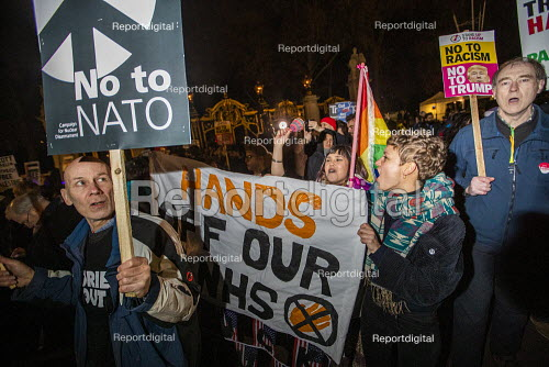 NHS Not for Sale, No to Trump, No to NATO Protest London - Jess Hurd - 2019-12-03