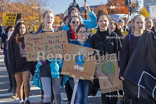 Washington DC USA Funeral for Future protest on Capitol Hill to demand that government addresses the crisis of climate change. It was part of Fridays for Future Global Day of Action. - Jim West - 2019-11-29