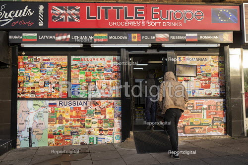 Little Europe Grocery shop with Polish, Bulgarian, Russian and Romanian foods, Corby, Northamptonshire - John Harris - 2019-12-07