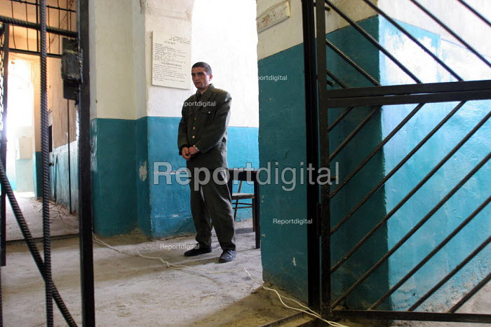 A guard stands by in the central prison of Goris, Armenia, February 2005. - Boris Heger - 2005-03-02