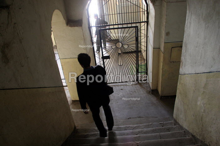 Guards on patrol in the central prison of Goris, Armenia, February 2005. - Boris Heger - 2005-03-02