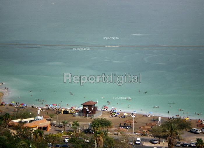 The Dead Sea public beach of the coastal resort of Ein Bokek, Israel, October 2007. - Boris Heger - 2007-10-20