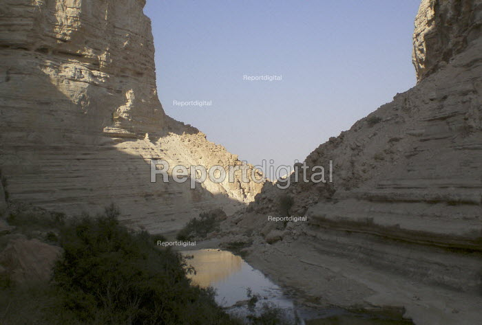 A view of the Zin river canyon, Ein Avdat National Park, Negev desert, Israel, October 2007. - Boris Heger - 2007-10-19