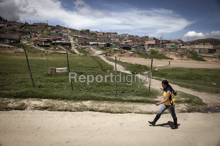 A poor and dangerous neighbourhood mostly populated by internally displaced people in Bogota, Colombia. - Boris Heger - 2011-02-03