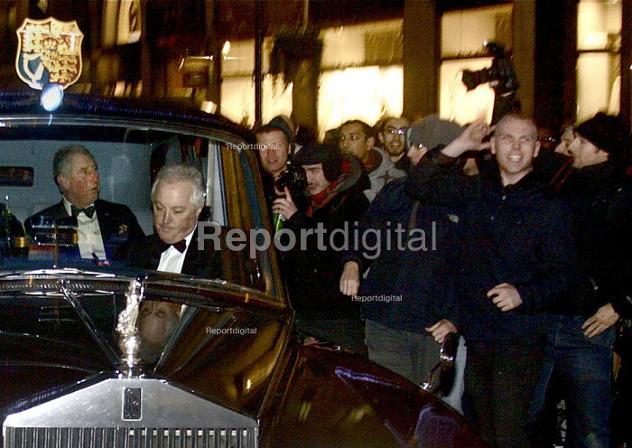 Prince Charles and Princess Camilla in their Rolls Royce caught in the student Protest against tuition fees, Regent Street, London. - Connor Matheson - 2010-12-09