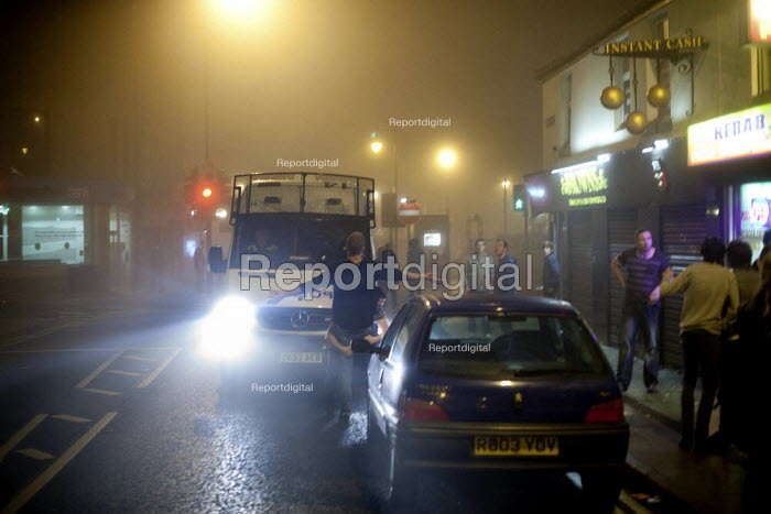 Locals taunt the police at closing time, Barnsley centre. - Connor Matheson - 2012-03-24