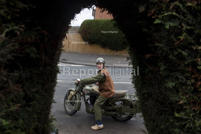Pete takes his original WW2 motorbike out for a spin in front of his house. - Connor Matheson - 2012-04-07