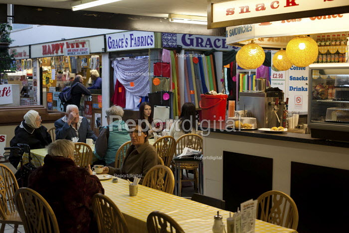 Eating at a snack bar, Castle Market, Sheffield. - Connor Matheson - 2012-04-10