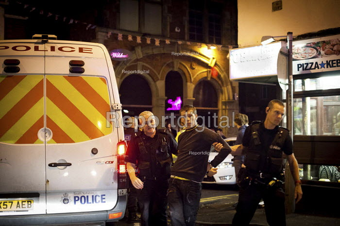 Arrest in Barnsley centre after a fight in a kebab shop. - Connor Matheson - 2012-07-15