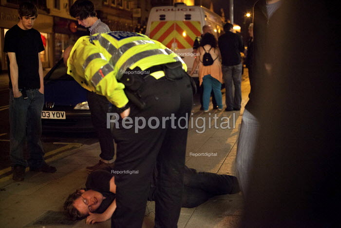 A man who claims a bouncer assaulted him is about to be arrested by police, Barnsley Centre. - Connor Matheson - 2012-08-11