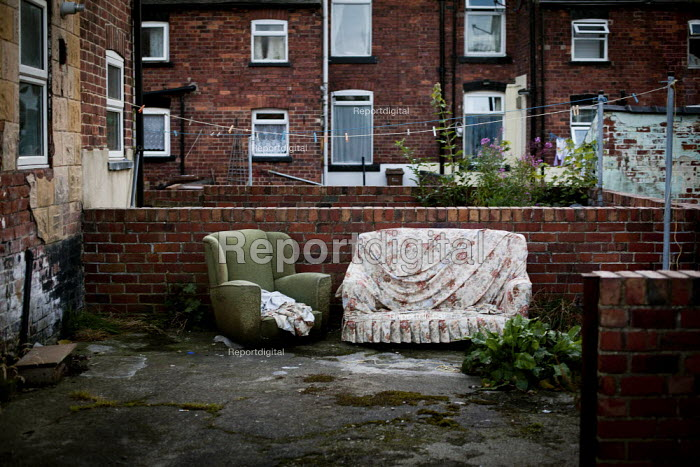 Furniture in the back garden, Bell vue, Wakefield. - Connor Matheson - 2012-08-30