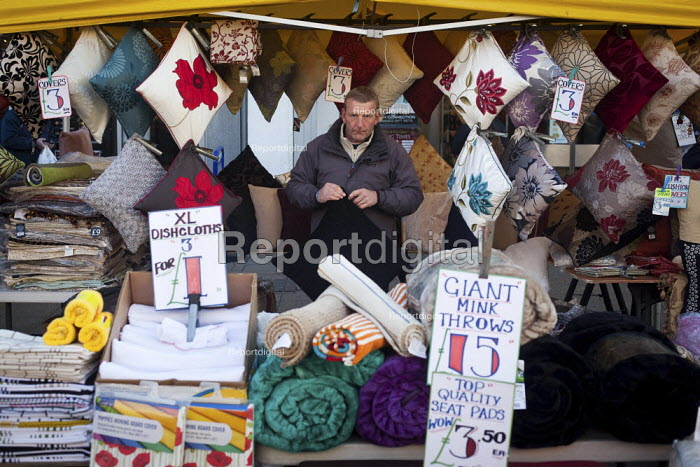 Pillows and cushions and other furnishings on sale, Rotherham Town Centre. - Connor Matheson - 2012-12-11