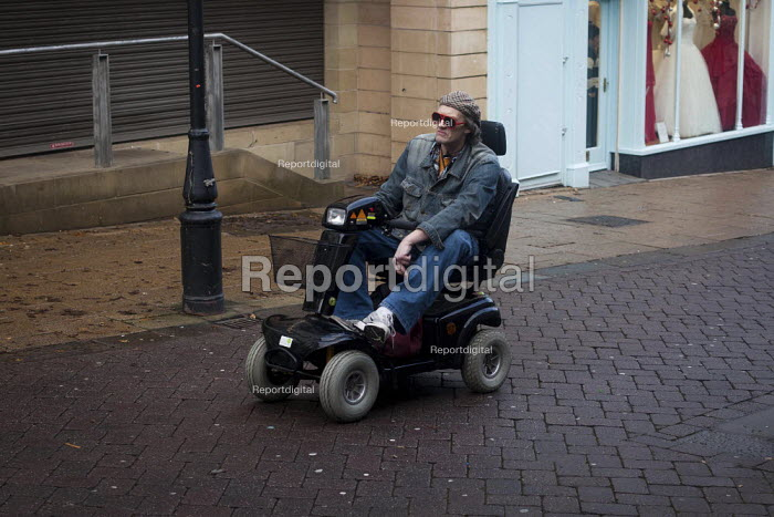 A man on a mobility scooter, Rotherham town centre. - Connor Matheson - 2012-12-15