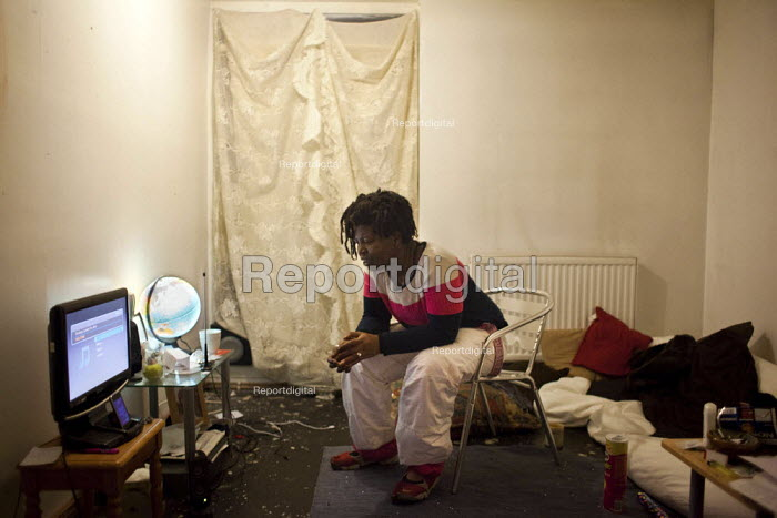 Olushola lives by her self at park hill flats and has done so on and off since she was 19. In April she was forced to move out in order to make way for the privatiseation and renovation of the estate. - Connor Matheson - 2012-12-19