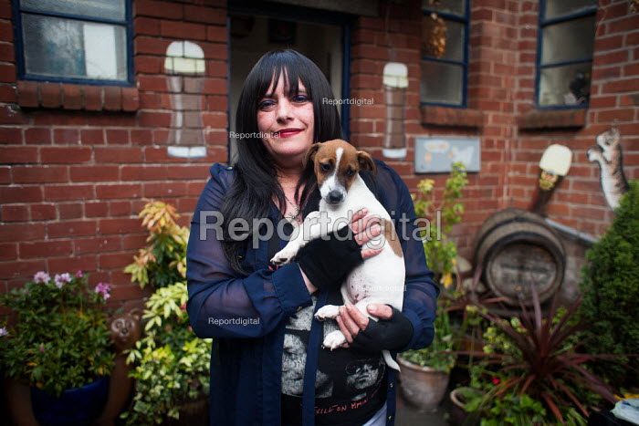 A woman with her dog, Upperthorpe Sheffield. - Connor Matheson - 2014-05-03