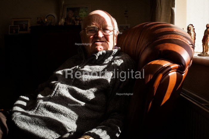 An ex miner waits for his carers, South Heindley, Barnsley. - Connor Matheson - 2014-05-07