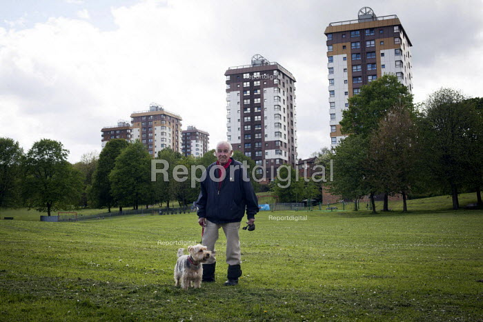 A man with his dog, Upperthorpe, Sheffield. - Connor Matheson - 2014-05-09