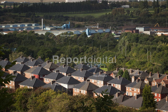 A view of typical housing, Rotherham Centre, South Yorkshire. - Connor Matheson - 2014-08-29