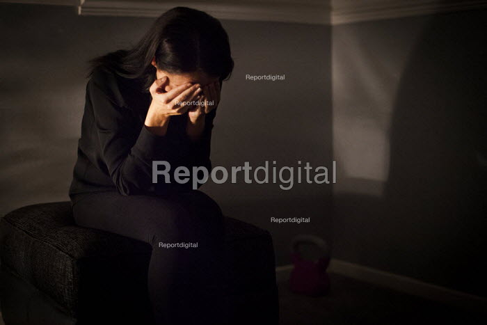 Jessica, a victim of child sexual abuse hiding her identity. Rotherham, South Yorkshire. - Connor Matheson - 2014-08-29