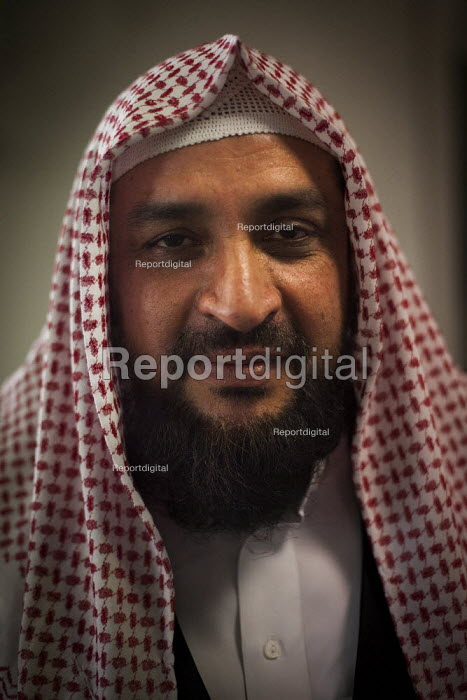 Imam of the Chapel Walk Mosque. Rotherham Centre, South Yorkshire. - Connor Matheson - 2014-08-29