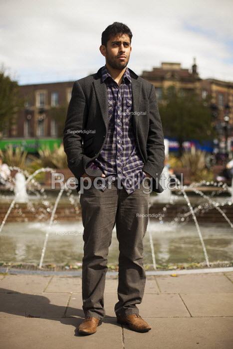 Muhbeen Hussain, leader and founder of Rotherham Youth Council. Rotherham Centre, South Yorkshire. - Connor Matheson - 2014-09-01