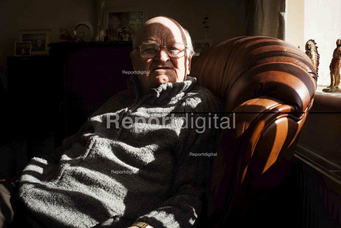John, an ex miner in his living room. South Heindley, Barnsley, South Yorkshire. - Connor Matheson - 2014-05-07