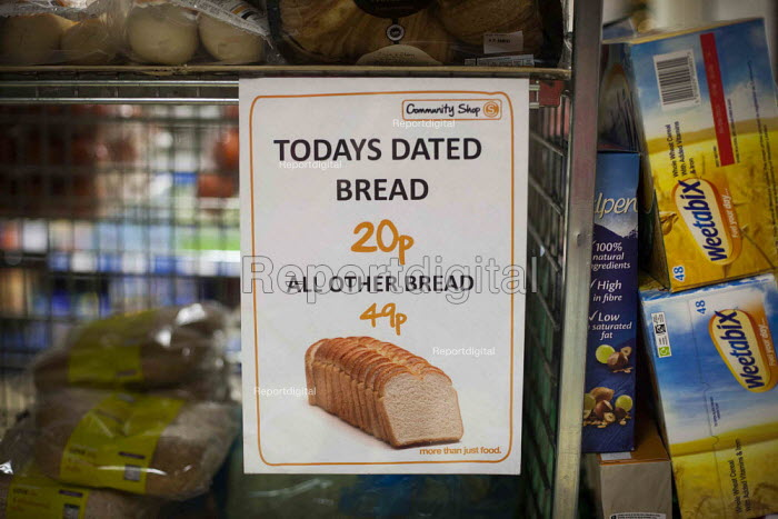 Bread prices. The Community Shop, Goldthorpe, South Yorkshire. - Connor Matheson - 2014-12-16