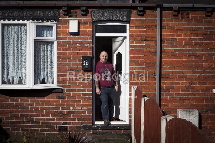 An ex miner in his doorway. Ryhill, Wakefield, South Yorkshire. - Connor Matheson - 2015-03-01