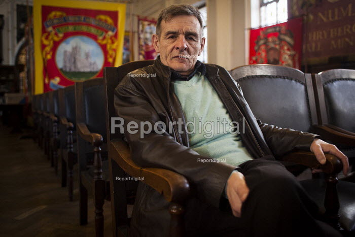 Maurice, education officer of the NUM and an ex miner who was on strike in the 1984-1985 miners strike, NUM headquaters. Barnsley Centre, South Yorkshire. - Connor Matheson - 2015-03-04