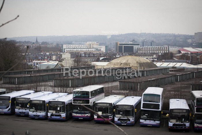 Broken down buses at the back of Sheffield Bus Depot, Sheffield, South Yorkshire. - Connor Matheson - 2015-03-12