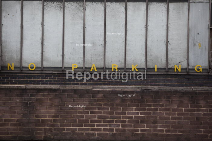 No parking sign at the back of Sheffield Bus Depot, Sheffield, South Yorkshire. - Connor Matheson - 2015-03-12