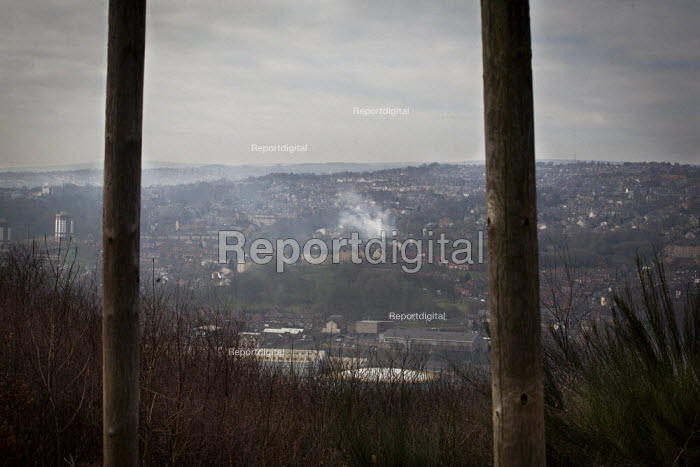 A view from the abandoned Ski Village. The Ski Village was burnt down in 2012 by an arson attack and has since been left derelict. Sheffield, South Yorkshire.. - Connor Matheson - 2015-03-20