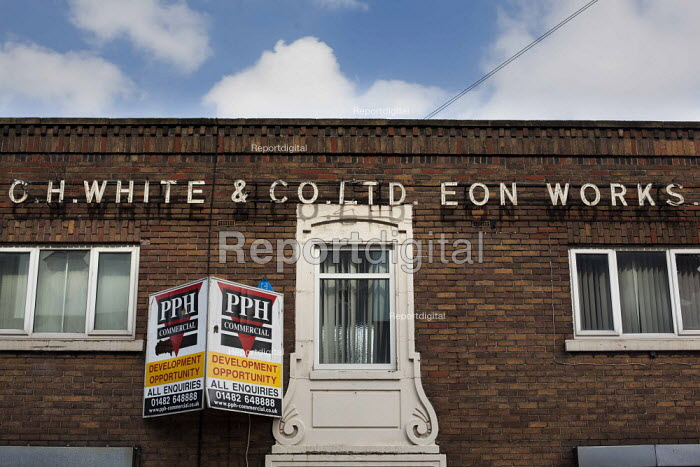 The closed down Eon works of C H White & Co LTD in the old industrial quarter of Sheffield. Sheffield Centre, South Yorkshire. - Connor Matheson - 2015-04-16