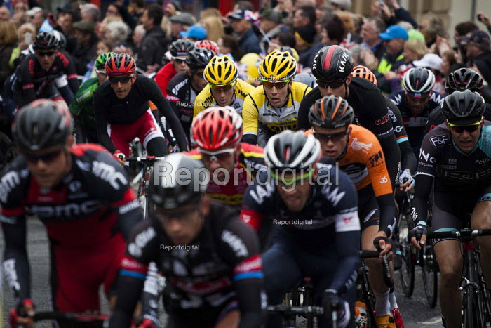 Competitors take part in the first anual Tour De Yorkshire, a cycling race inspired by the success of the Tour De France. Barnsley Centre, South Yorkshire. - Connor Matheson - 2015-05-03