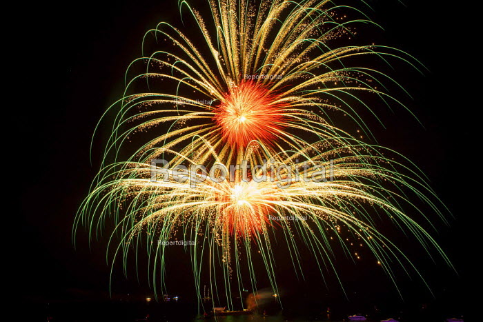 The Feast of Our Lady of Sorrows St. Pauls Bay Malta. Fireworks display - Connor Matheson - 2015-07-24