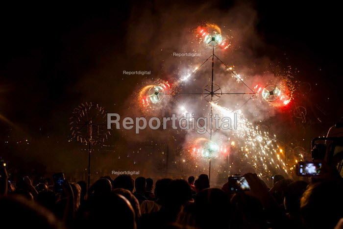 The Feast of Our Lady of Sorrows St. Pauls Bay Malta. Fireworks display - Connor Matheson - 2015-07-25