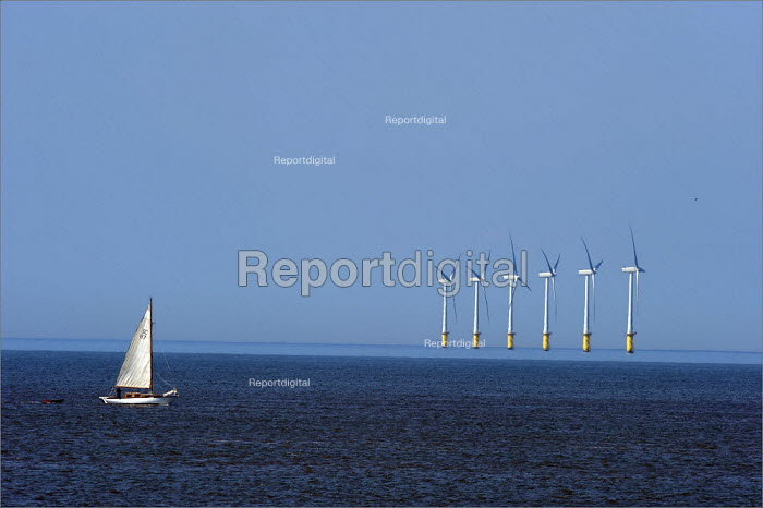 North Hoyle offshore windfarm near Prestatyn, in North Wales. - Christopher Thomond - 2009-06-24