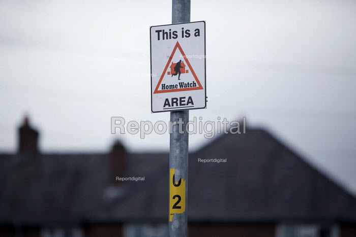Home Watch sign. Northern Moor housing estate, Manchester - Christopher Thomond - 2009-08-21