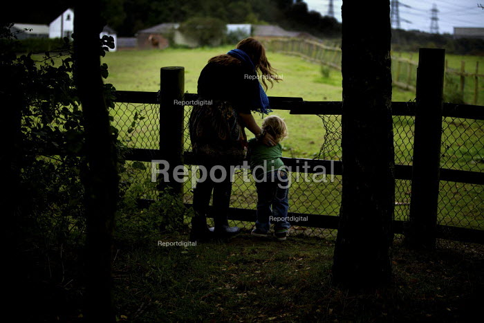 A mother and son walking in the countryside. - Christopher Thomond - 2009-09-26