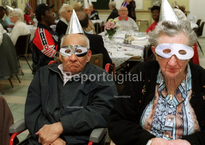 Disabled pensioners at Day Centre Millennium Party. - Duncan Phillips - 2000-01-01