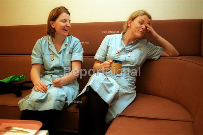Nurses enjoying Tea Break at a North London Hospital - Duncan Phillips - 2000-09-16