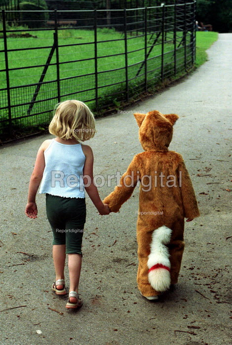 Child in Fox Suit walking. - Duncan Phillips - 1997-10-18