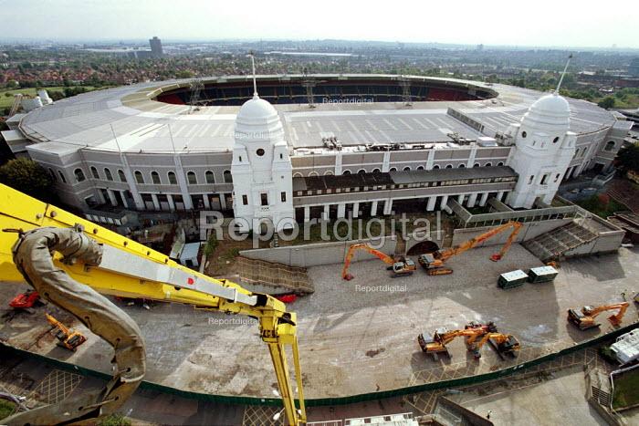Construction starting, Wembley Stadium London - Duncan Phillips - 2002-10-09